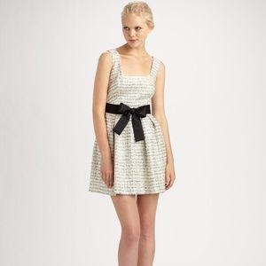 Milly White Metallic Tweed Mini Dress - Size 2